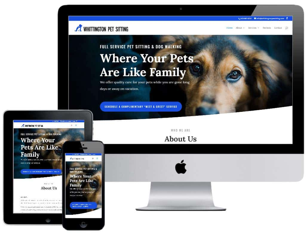 Whittington Pet Sitting Website